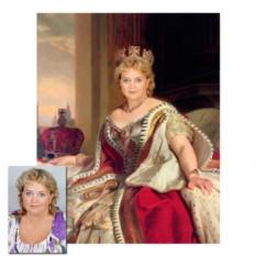 Портрет на заказ в образе королевы