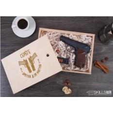 Именной шоколадный пистолет «Братухе для житухи»