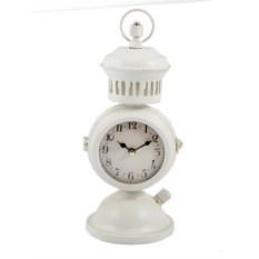 Белые настольные часы с черным циферблатом