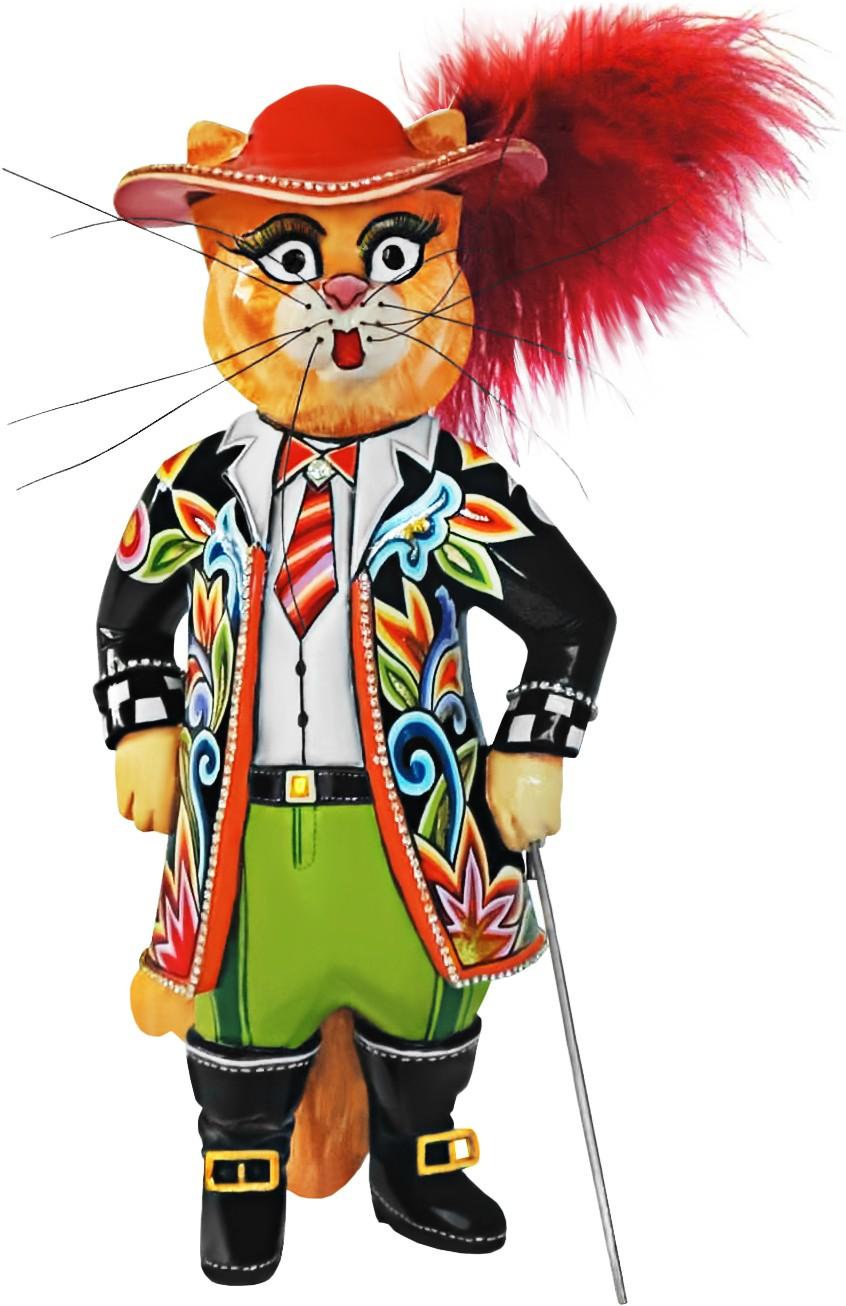 Статуэтка «Кот-мушкетер»