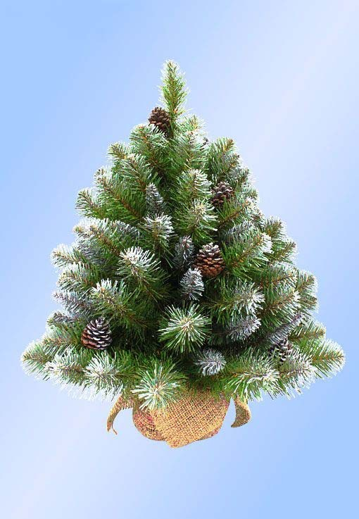Искусственная елка Императрица заснеженная с шишками