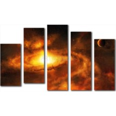 Модульная картина «Космос» 50×29 см
