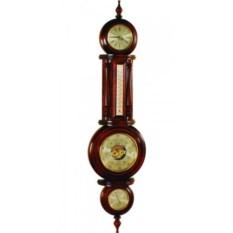 Настенный барометр, гигрометр, термометр и часы