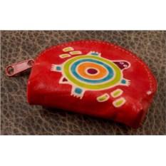 Монетница Socotra (Красный, черепаха; тип 1; кожа)