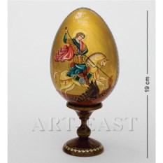 Яйцо-икона Святой Лик. Георгий победоносец