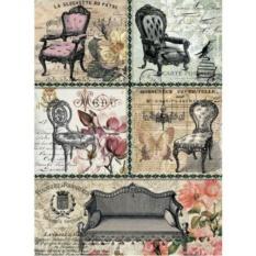 Рисовая бумага для декупажа Craft Premier Старинная мебель