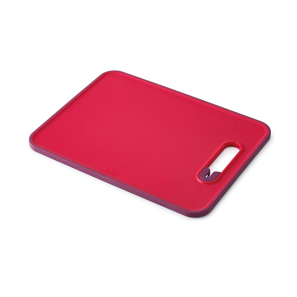 Красная разделочная доска с ножеточкой Slice & Sharpen™