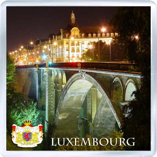 Сувенирный магнит на холодильник: Люксембург. Мост