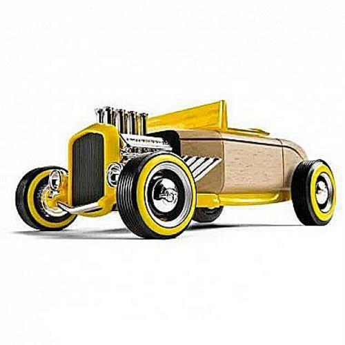 Машинка-конструктор Automoblox Ретро Хот Род HR2 желтый