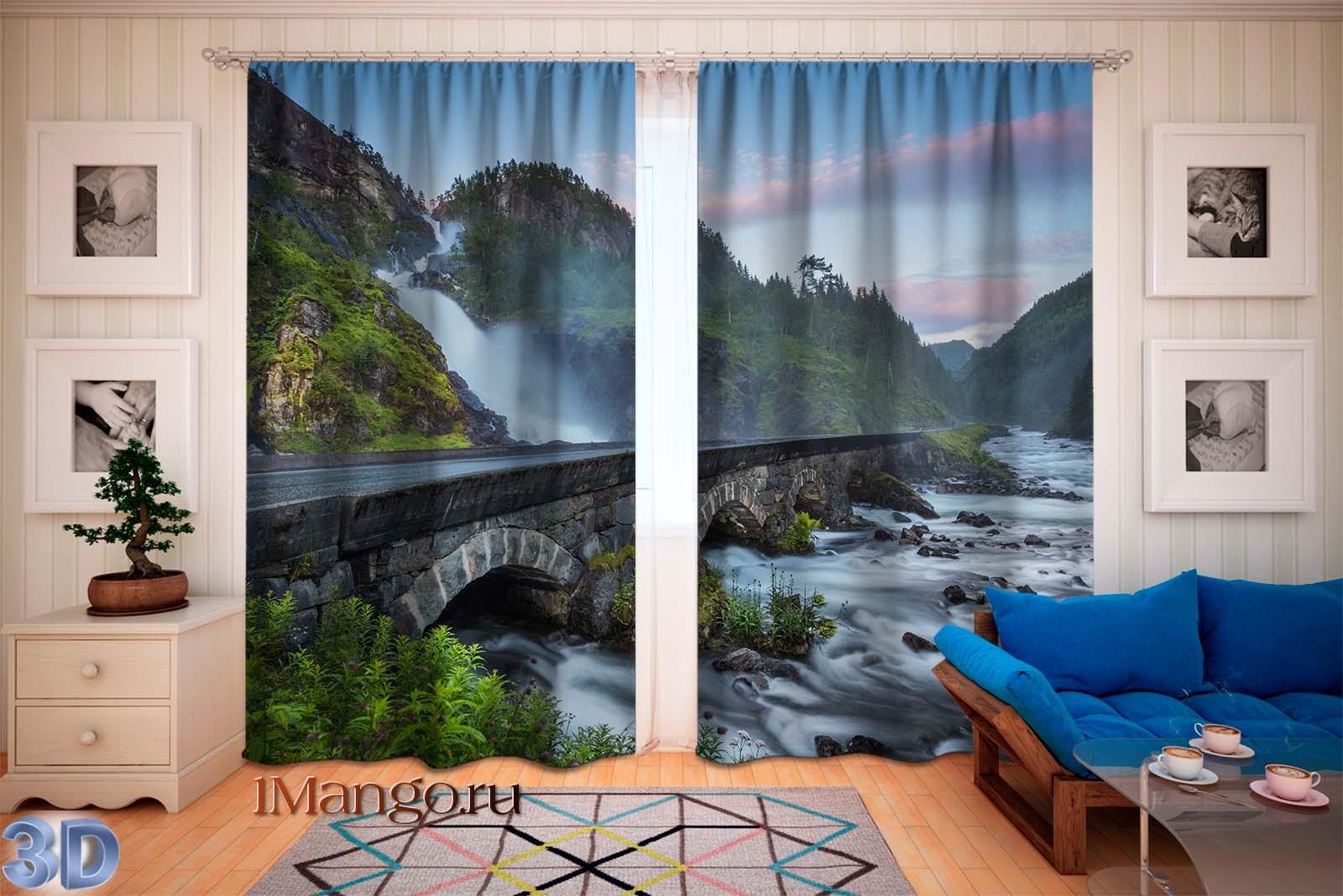 Фотошторы Водопад в Норвегии