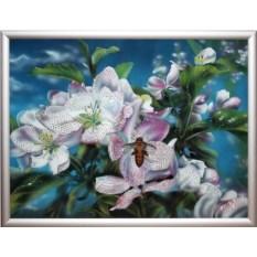Картина с кристаллами Swarovski Яблони в цвету