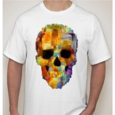 Мужская футболка Череп в пикселях