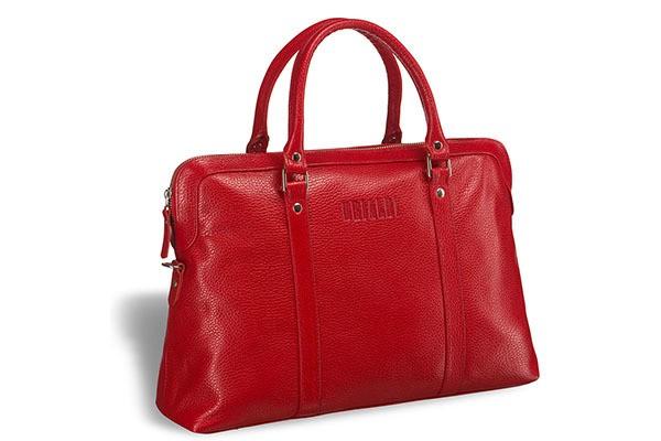 Удобная женская сумка Brialdi Valencia (цвет — красный)