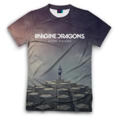 Мужская футболка 3D с полной запечаткой Imagine Dragons