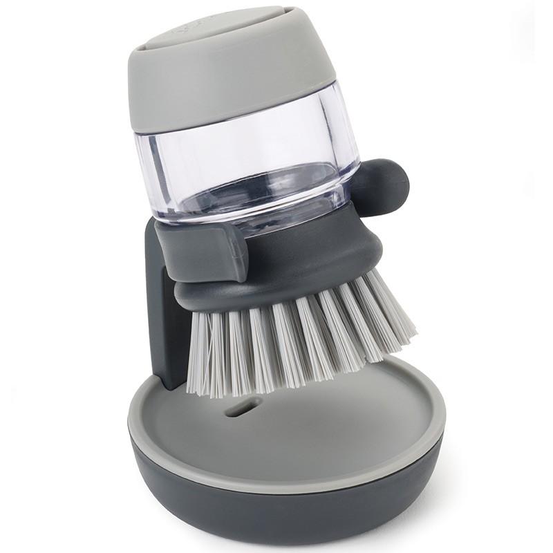 Серая щетка с дозатором моющего средства Palm Scrub™
