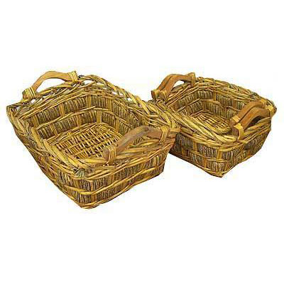 Набор плетёных корзин