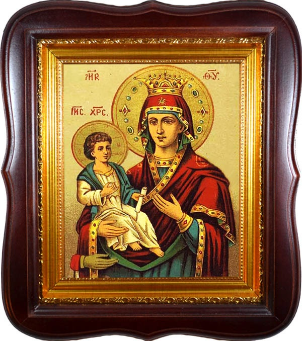Троеручица. Икона Божьей Матери на холсте.