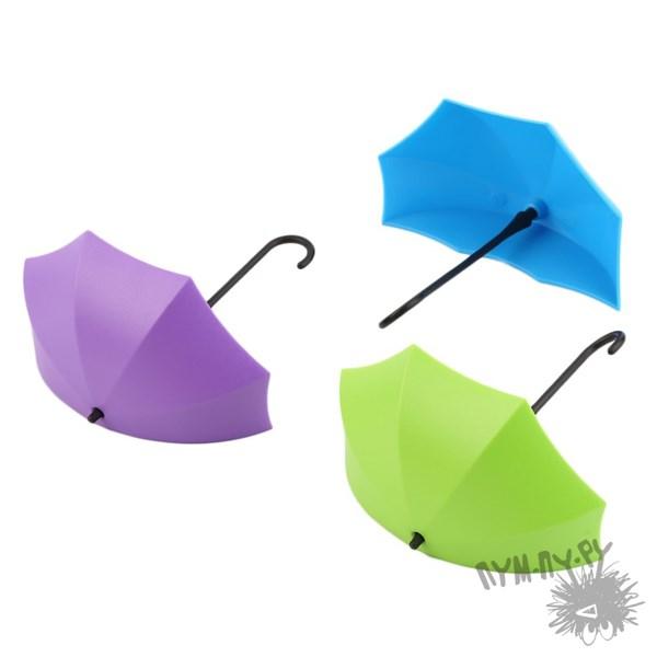 Крючки-держатели Разноцветные зонтики