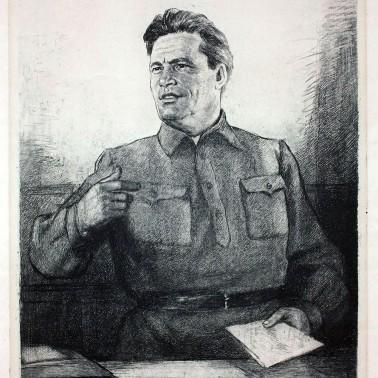 Гравюра «Портрет С.М.Кирова»