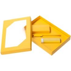 Набор Energy: аккумулятор и ручка (цвет — желтый)