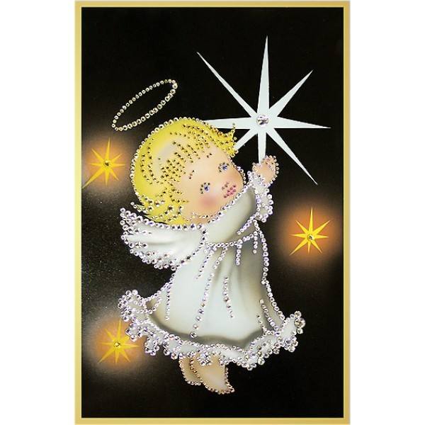 Картина Swarovski Звездный ангелочек