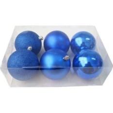 Синие новогодние шарики Микс