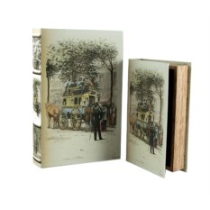 Набор из двух шкатулок-фолиантов Улочки Парижа