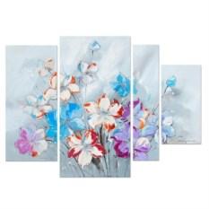 Модульные картины для интерьера с цветами (150x120 см)