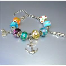 Морской браслет в стиле Пандора