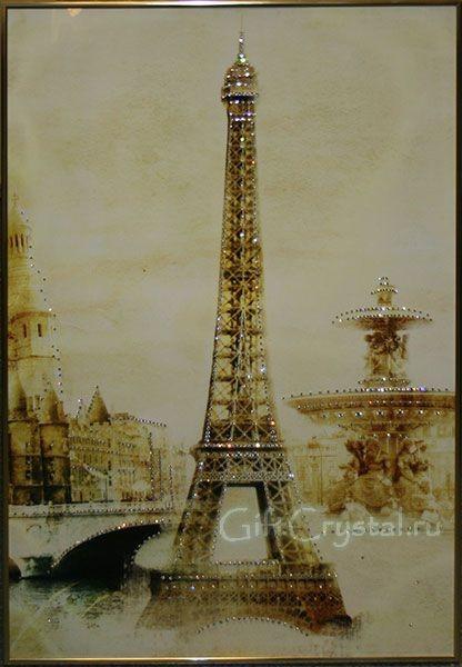 Картина с кристаллами Swarovski Эйфелева башня