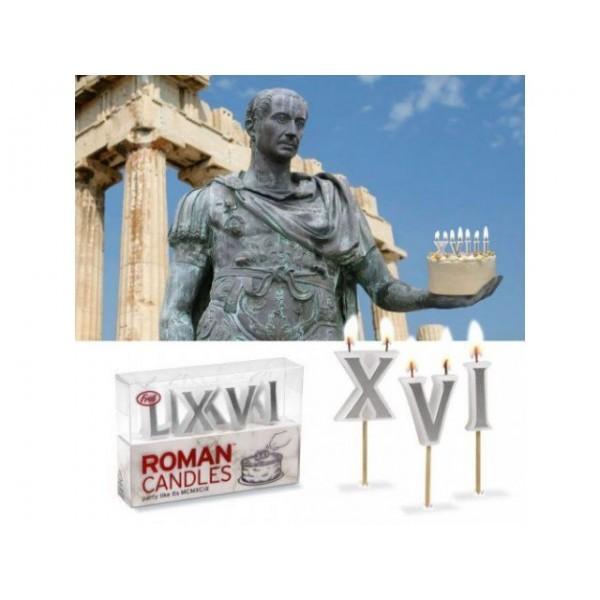 Свечи для торта Римские цифры