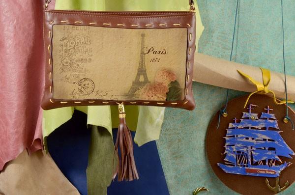 Дизайнерский клатч Открытка из Парижа