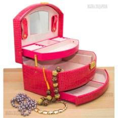 Шкатулка для ювелирных украшений Valise малинового цвета