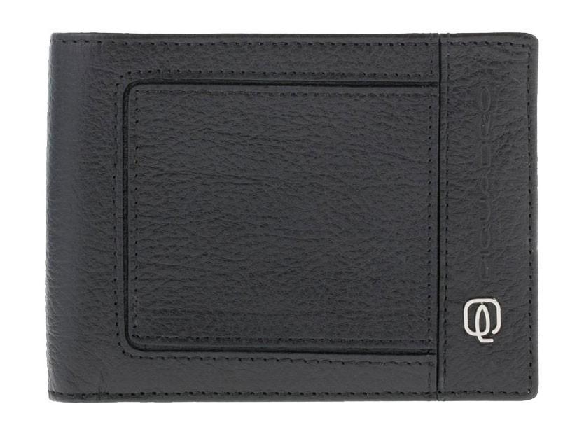 Черное портмоне с отделением для монет Piquadro Vibe