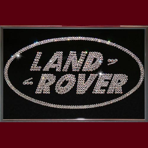 Картина с кристаллами Swarovski Land Rover