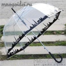 Прозрачный зонт Жизнь большого города
