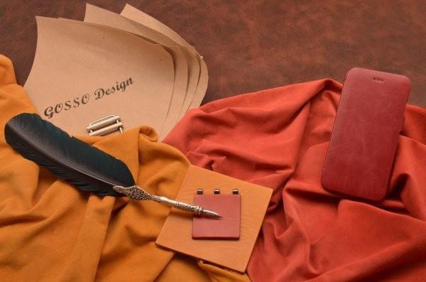Кожаный чехол для iPhone 6 (тип книжка) «Бордовый филин»