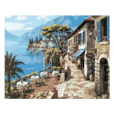Картины по номерам «В кафе на набережной»
