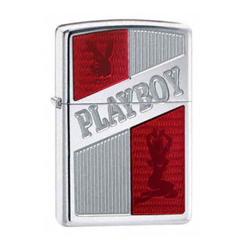 Зажигалка Zippo бензиновая Playboy Ruby Red