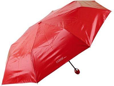 Складной зонт-полуавтомат, красный