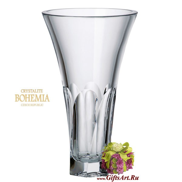 Цветочная ваза Богемское стекло Crystalite Bohemia
