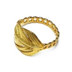 Модульное кольцо Перо (позолоченное серебро)