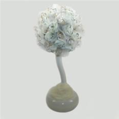 Дерево-топиарий из горного хрусталя Свадебное