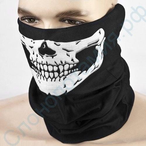 Шарф-маска на лицо Череп