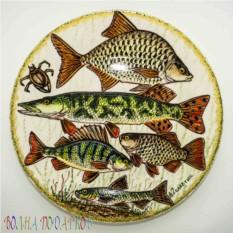 Настенная тарелка Рыбы