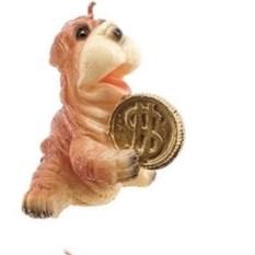 Свеча Собачка с монетами