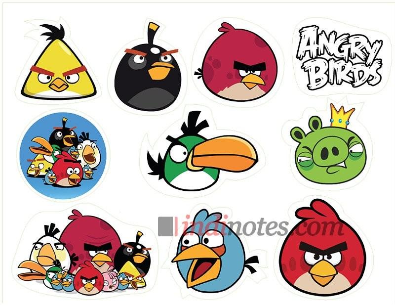 Лист виниловых наклеек Angry Birds