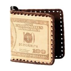 Зажим для денег с изображением 100 долларов