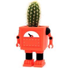 Красный горшок цветочный Planterbot