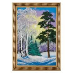 Картина в деревянной раме Зимний пейзаж (20х30 см)